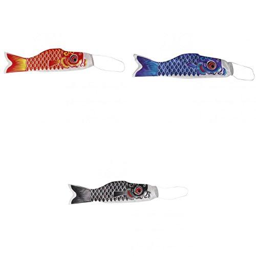 KESOTO 3 Stücke 40 cm Japanische Windsock Windspiel Koi Nobori , Karpfen Flagge