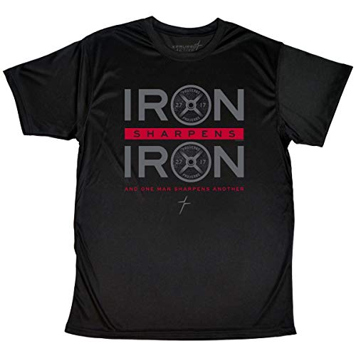 Kerusso Men's Iron Sharpens Iron T-Shirt - Black -LG