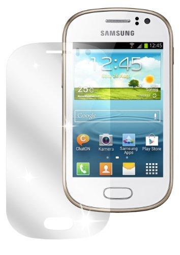 dipos I 2X Schutzfolie klar kompatibel mit Samsung Galaxy Fame GT-S6810P Folie Displayschutzfolie