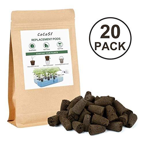 5/20/50 Packung Seed Pod Schwämme Seed Starter Sponge Pods Ersatz Wurzelwachstum Schwammstopfen für Hydroponic Indoor Garden Seed Start