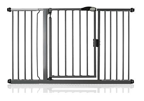 Bettacare Portail d'escalier à fermeture automatique (139,8 cm - 146,8 cm, gris ardoise)