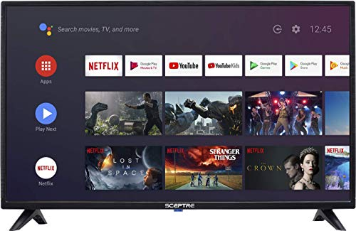 Sceptre Android TV A322BV-SRC 32 Pulgadas Smart LED HD TV Google Assistant Chromecast Bluetooth Remote, Máquina Negro 2020 (Reacondicionado)