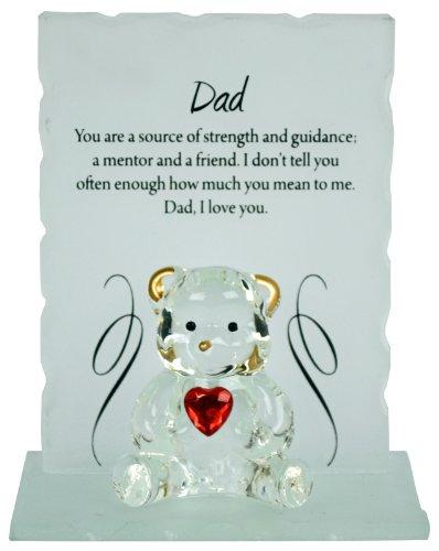 Bargains-galore Engraved glass crystal bear gift set poem poetic writing...