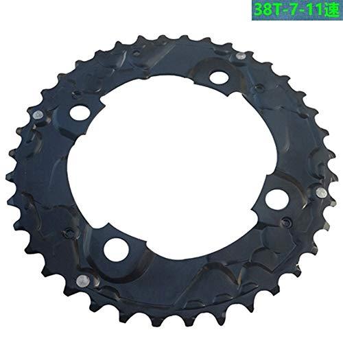 NO LOGO FJJ-LIANPAN, Reparación de Bicicletas 38T Disco Piñón Bielas Neumáticos En Shimano Pieza Doble Rueda de Bicicleta 10/11 Velocidad