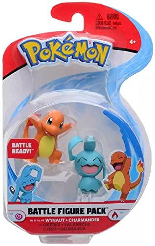 Pokemon Selección Battle Figures Figura de Acción   Juego de Figuras, Figuras del Juego:Wynaut & Charmander