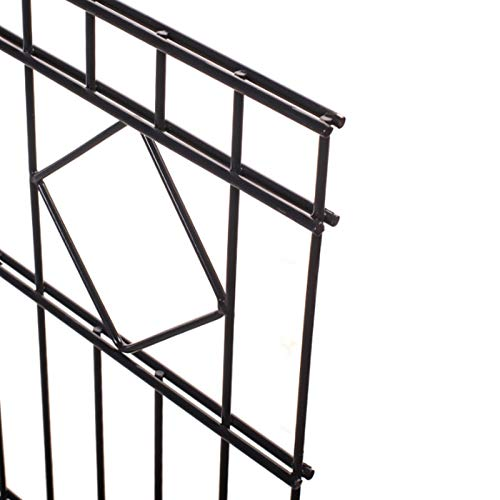 HORI® Doppelstabmattenzaun Schmuckzaun Sichtschutz Komplett Set I Höhe 120 cm I Länge 26 m (13 El. + 14 Pf.) I Ohne Gartentor