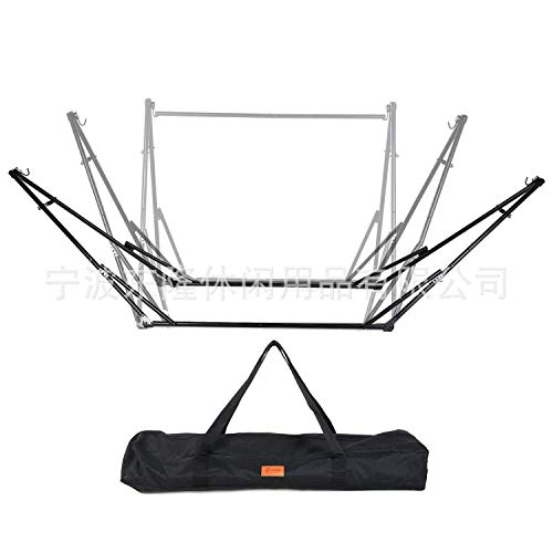 KANGMOON Portable Folding Hammock Stand with Carrying Case, Max 10FT Long,Compact Foldable Space Saving, Heavy Duty Steel Hammock Stands for Outdoor or Indoor