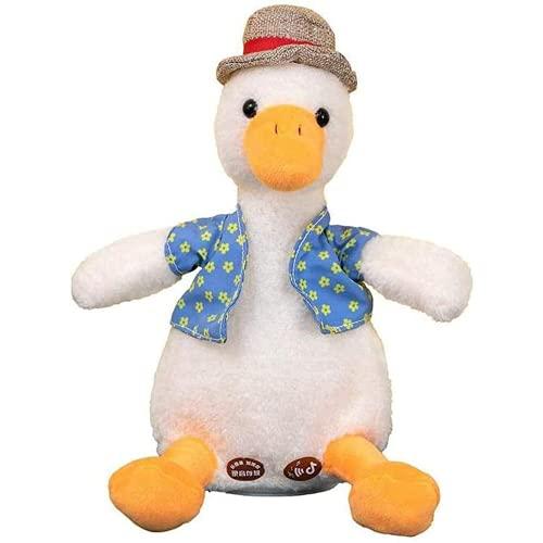 Makfacp Pato parlante, Gracioso Peluche Que Repite lo Que Dices. Lindo Pato eléctrico para San Valentín, Regalo de cumpleaños, Peluche para educación temprana