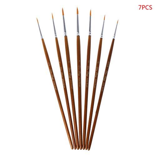 Niumanery Professionele verfkwasten, 7-delige set, voor verfschilderen, fijne gepointed tip, miniatuurkwasten voor acryl, waterverf, olieverfset