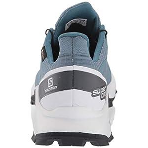 Salomon Women's Supercross GTX Trail Running Shoes, Bluestone/White/India Ink, 5