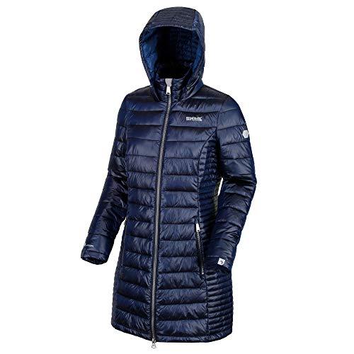 Regatta Andel Damenjacke, leicht, wasserabweisend, sehr warm, Atomlight, isoliert, lang, gesteppt L Preußisch