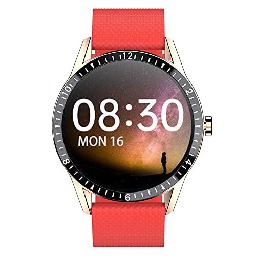 APCHY Smart Watch, Fitness Tracker IP68 Hombres Impermeables Mujeres Color Pantalla Táctil Completa Reloj De Aptitud Bluetooth Smartwatch con Ritmo Cardíaco/Sleep Monitor Podómetro,C