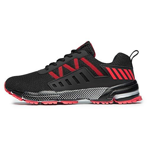 FITORY Sportschuhe Laufschuhe Gym Turnschuhe Atmungsaktiv Straßenlaufschuhe für Herren Damen Rot Gr.39