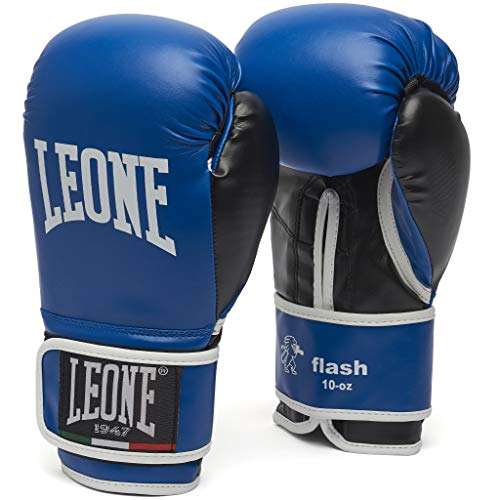 Leone 1947 Guantes de boxeo, modelo Flash azul turquesa Tall