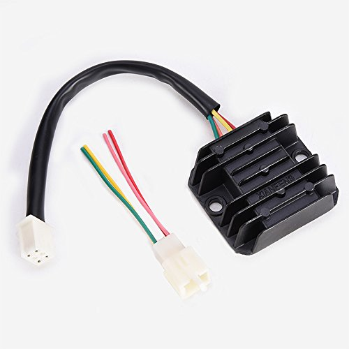 Rectifier 4 Wires Voltage Regulator Replacement for Boat Motor Mercury ATV GY6 50 150cc Scooter Moped JCL NST TAOTAO