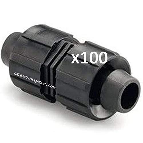 Suinga Union pour ruban d'irrigation par goutte 16 mm manchon pour connecter deux cassettes d'irrigation. Pack 100 unités.