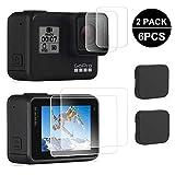 opamoo Pellicola Vetro Temperato per GoPro Hero 7, 6 Pezzi Protezioni per lo schermo LCD + Pellicola...
