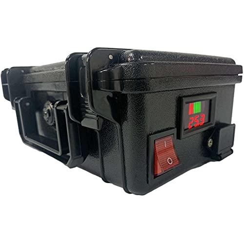 YBSM Batería de Litio para cortacésped eléctrico, 24V 20AH-60AH, Alta Capacidad, Rango Fuerte, batería de Herramientas eléctricas al Aire Libre de jardín, con Mochila y cargador-24v 40ah