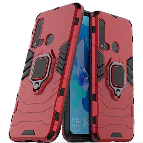 GFMING con El Sostenedor del Anillo Carismática, PC + TPU Prueba De Golpes Funda Protectora For Huawei P20 Light 2019 / Nova 5i Funda para teléfono móvil (Color : Red)