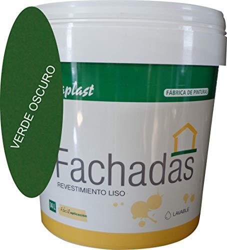 PINTURA FACHADAS COLORES Durcaplast: Revestimiento de fachadas colores mate. Extraordinaria resistencia al roce, máxima resistencia a la intemperie y al envejecimiento. (750ml, VERDE OSCURO 31)