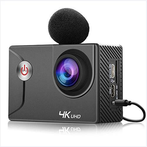 WANGOFUN 4K-actiecamera, 170 graden brede hoek voor fietsen/duiken/skiën/live audio, volledige accessoires Kits 16MP Ultra HD waterdichte sportcam