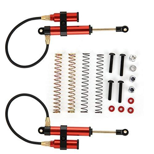 Negative Pressure Shock Damper,108mm RC Car Shock Absorber Internal Springs for RGT 1/10 RC Car(Red)
