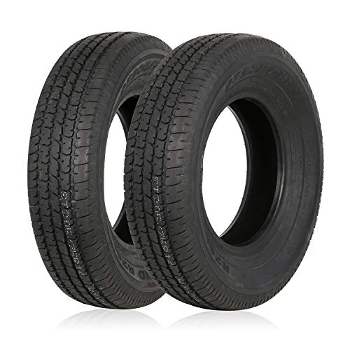 Weize Set of 2 ST205/75R14 Radial Trailer Tire, 8 Ply Load Range D