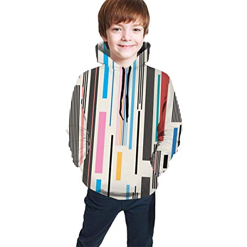 EYSKJ Kapuzenpullover Colorful Graphic Youth Boys Girls 3D Print Pullover Hoodies Hooded Seatshirts Sweater