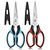 Ultra Sharp Kitchen Shears Heavy Duty Multi Purpose Scissors Kitchen Accessories 2-pack for Chicken, Poultry, Fish, Meat,Vegetables