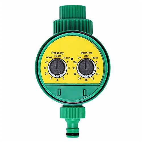 SPFCJL Temporizadores de aguacón analógico de riego de jardín Temporizador de Agua de Dos Esfera de plástico Dial Controlador de riego automático del Grifo electrónico (Color : Yellow)