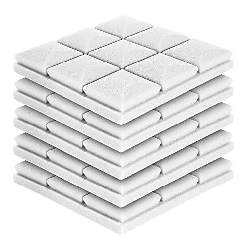 FAMKIT 5 unidades de espuma acústica para pared de espuma insonorizada, juego de paneles de espuma acústica, azulejos de cuña de estudio, paneles a prueba de sonido 3D (30 x 30 x 5 cm)