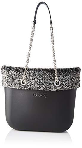 O bag Borsa Completa Obag Mini 18, Bolso tipo tote para Mujer, Negro (Negro), 12x29x31 centimeters (W x H x L)