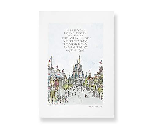 Main Street USA, Disney World Quote Art | Art Prints taken from my Original Detailed Illustration & Watercolor.