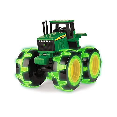 TOMY John Deere Monster Treads Lightning Wheels Tractor, Green