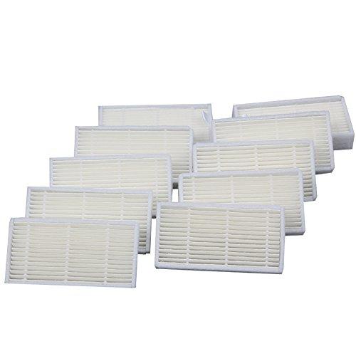 Louu Lot de 10 filtres HEPA pour robot nettoyeur ILIFE V4