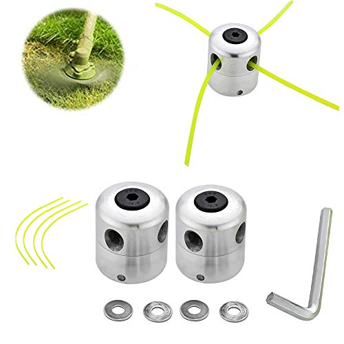 Lowest Price! XYZCUP Aluminum Trimmer Head Cutter Nylon Brush Cutter Accessories Weed Trimmer Weed B...