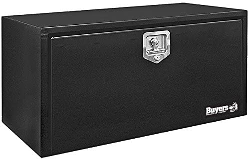 Buyers Products 1702305 Black Steel Underbody Truck Box with T-Handle Latch, 18 x 18 x 36 Inch: image