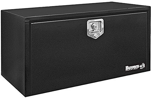 Buyers Products Black Steel Underbody Truck Box w/ T-Handle Latch (18x18x36 Inch)