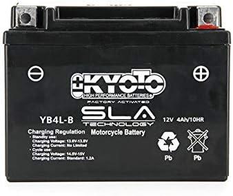 Kyoto - Batteria per scooter Yamaha 50 Ns N Aerox Naked 2013-2018, YB4L-B SLA / 12 V 4 Ah