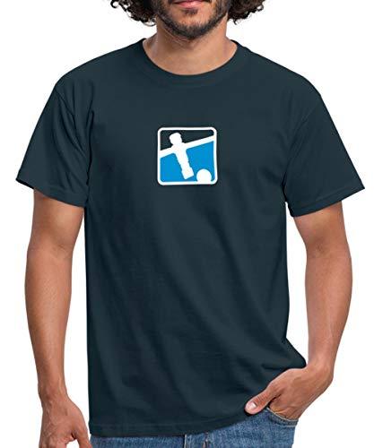 Kicker Soccer Player Tischkicker Männer T-Shirt, L, Navy