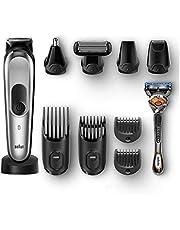Braun 10-in-1 All-in-one trimmer MGK7920, Beard Trimmer & Hair Clipper, Black/Silver - International Version