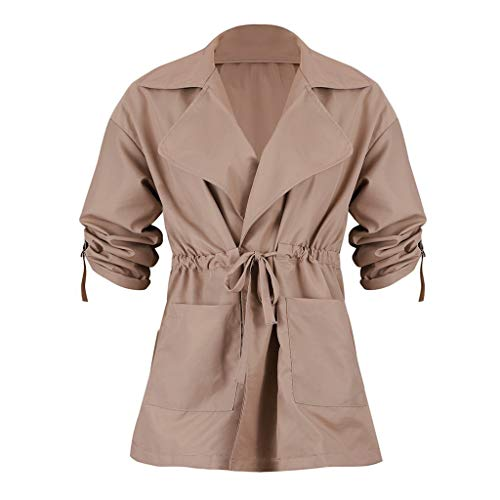 Amazing Deal WatFY Womens Ladies Jacket Casual Thin Coat Trench Coat Lapel Winter Short Outerwear To...