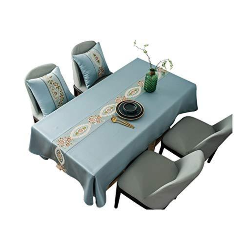 WZHZJ Rectángulo a Prueba de Agua Restaurante Mantel Bordado Mesa de Bordado 100% Poliéster Color sólido para Party Party (Size : 150x150cm)