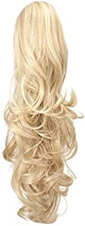 """Best OneDor 20"""" Curly Synthetic Clip In Claw Drawstring Ponytail Hair Extension Synthetic Hairpiece 190g with a jaw/claw clip (24H613) Review"""