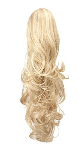 Top ponytail extension real human hair clip for 2020