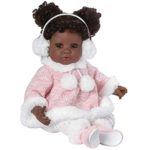 Adora Toddler Doll Cotton Tail with bunny graphic outfit, fluffy sweater with bunny ears hood and fur trim boots