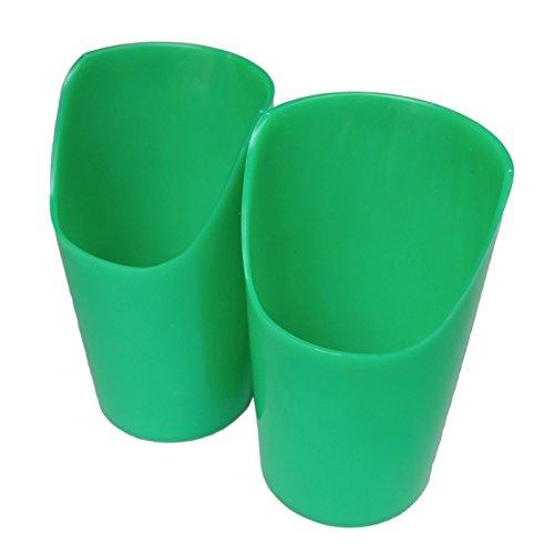 Flexi Nosey - Copa recortada (tamaño grande, 2 unidades)