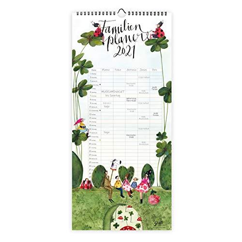 XL Familienplaner Kalender 2021 zum Aufhängen | Wandkalender Planer mit 5 Spalten pro Monat| Monatsplaner für große Familien oder WGs, mit Ferienterminen
