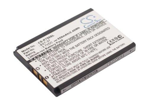 vintrons batería de 3,7V para Sony-Ericsson W700i, Z550i, K750C, W350i, W800, J210i, W600, Z520a, W300C