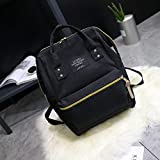 DMH mochila pañales impermeable Gran capacidad para salir y viajar mami bag-Xiaomi cremallera amarilla negra